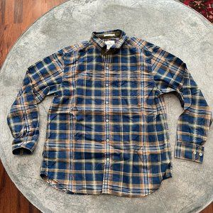 Tommy Bahama Island Crafted Plaid Button Up Sz L
